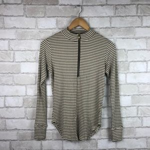 LNA High Neck Striped Long Sleeve Size M